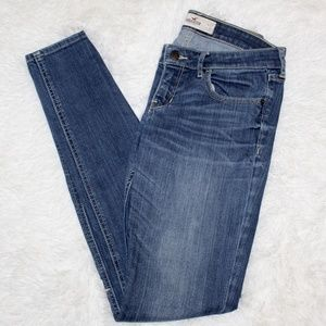 Hollister Low Rise Skinny Jeans Medium Wash 5 Long
